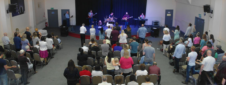 Morning worship at Liberty Church, Rotherham